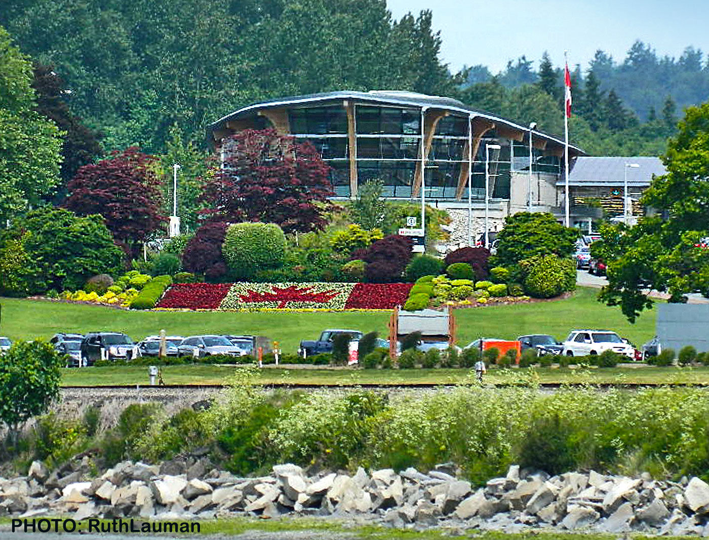 Canadian Border Immigration at Peace Arch Border Crossing